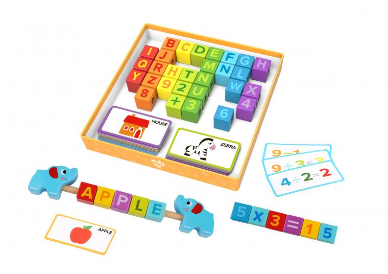 Tooky Toy puzzelbox Tellen & Rekenen junior 23 cm hout
