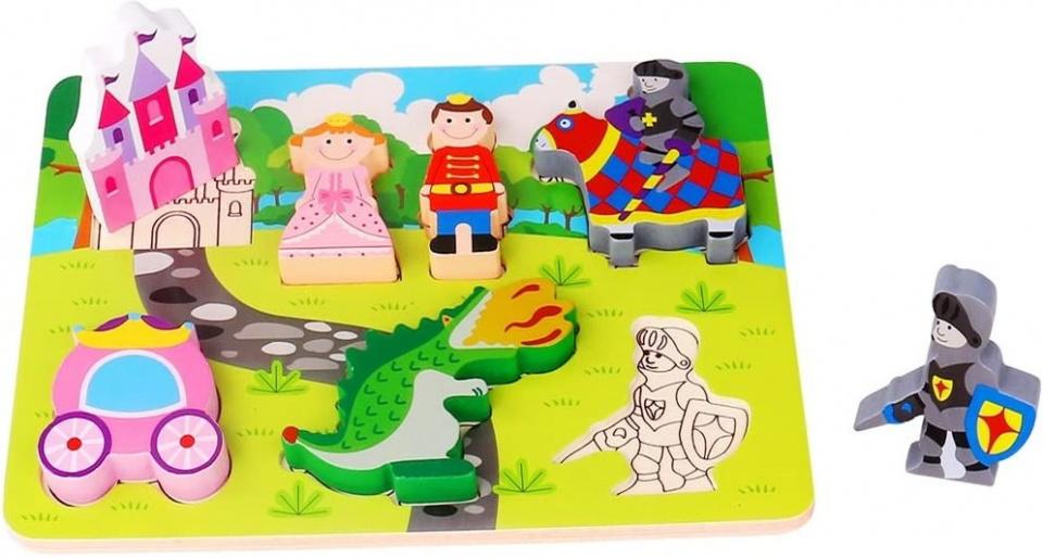Tooky Toy vormenpuzzel Prinses junior hout 7 stukjes