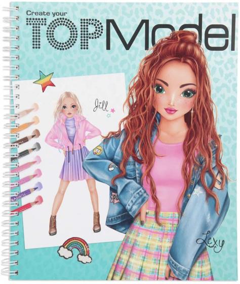 Topmodel Livre De Coloriage Create Your Top Model Girls Papier 24 Cm Internet Toys