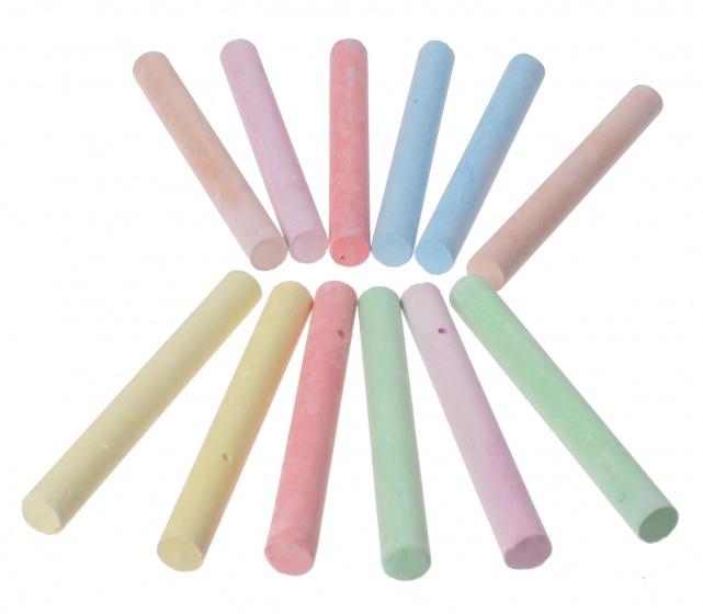 Topwrite Kids krijtjes gekleurd 12 delig