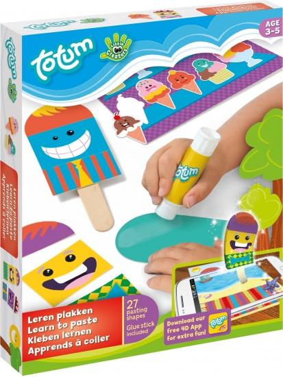 Totum Little Creators: leren plakken knutselset