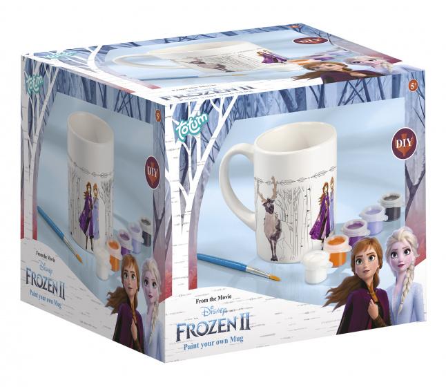Totum schilder jouw mok Frozen II meisjes wit 3 delig