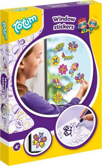 Totum Window Stickers vlinders en bloemen