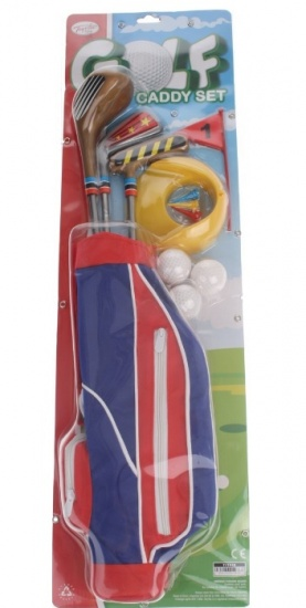 Toyrific Golf Caddy 12 delige Set Junior rood/blauw