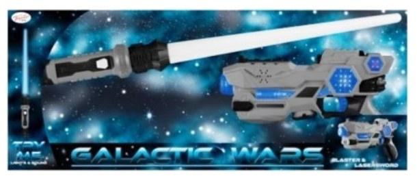 Toyrific Galactic Wars Blaster en laserzwaard grijs