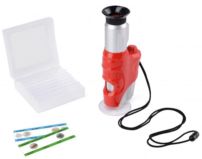 Toyrific Handheld Microscoop met licht 22 x 6 cm oranje