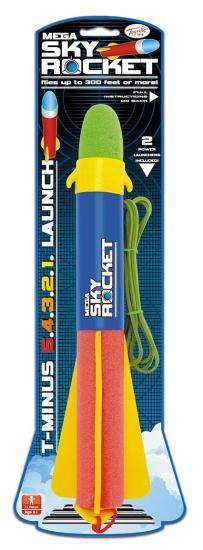 Toyrific Mega Sky Rocket 11 x 41 cm blauw/ geel