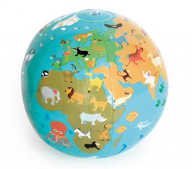 Scratch opblaasbare wereldbol 30 cm