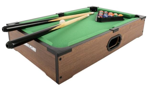 Toyrific poolbiljarttafel 27 inch bruin 20 delig
