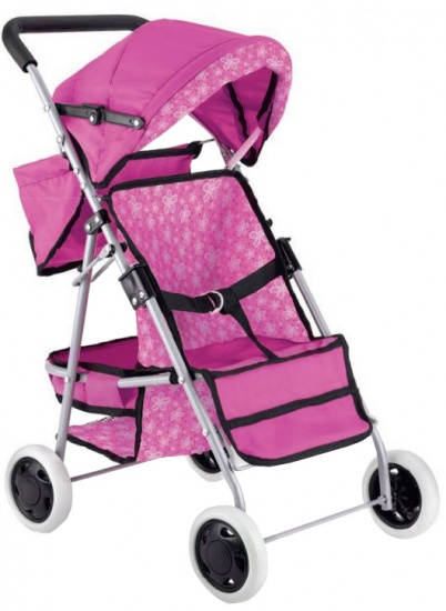 Toyrific Poppenwagen Deluxe Dolls Buggy roze 62 cm
