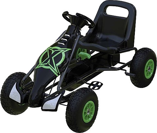 Xootz skelter Go Kart zwart/groen