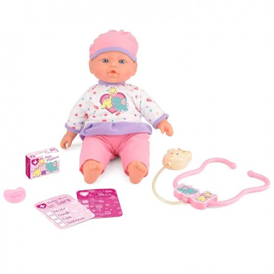 Toyrific Snuggles babypop interactief zieke Sara 41 cm 5 acc.