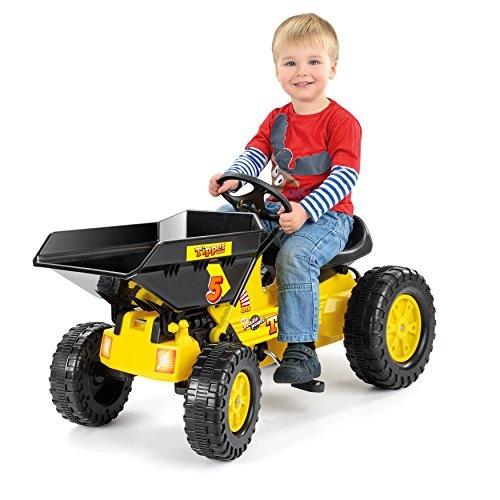 Toyrific Trapvoertuig bulldozer 109 x 45 x 61 cm geel/ zwart