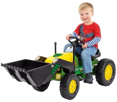 Toyrific Trapvoertuig tractor 109 x 45 x 61 cm groen/ geel