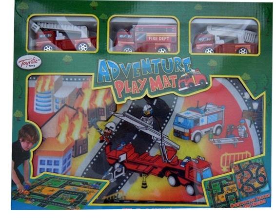 Toyrific Verkeerskleed Brandweer 80 x 70 cm