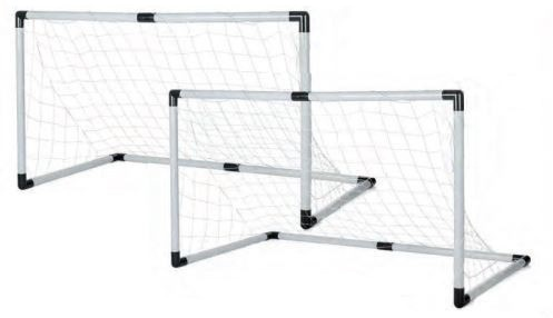 Toyrific Voetbalgoals 2 in 1 set wit / zwart