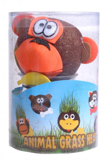Toys Amsterdam grasvriendjes aap junior 12,5 cm vilt bruin