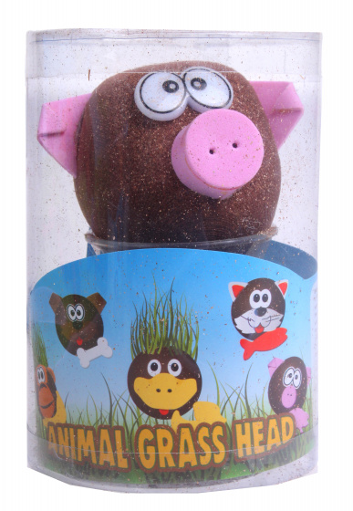 Toys Amsterdam grasvriendjes varken junior 12,5 cm vilt bruin