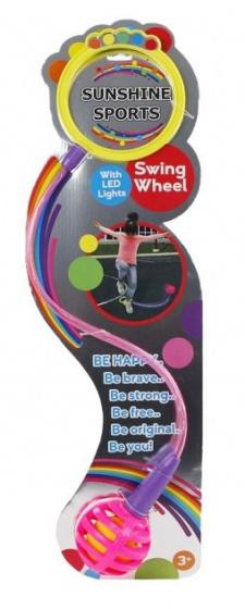 Toys Amsterdam enkelspringbal Swing Wheel junior 80 cm roze