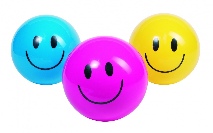 Toys Pure Smiley bal 20 cm geel