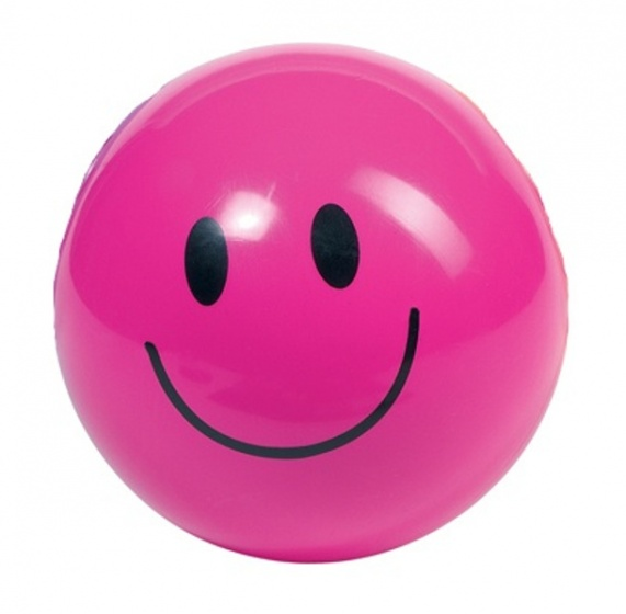 Toys Pure Smiley bal 20 cm roze