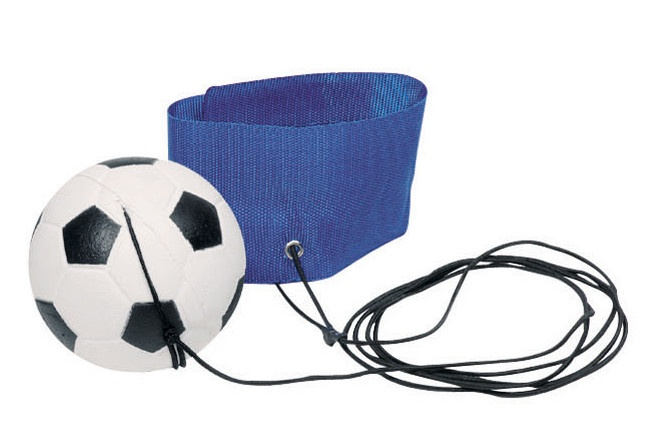 Toys Pure Voetbal Aan Armband: Blauw 6,3 cm