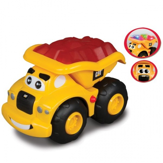 Toystate Caterpillar glow dump truck geel