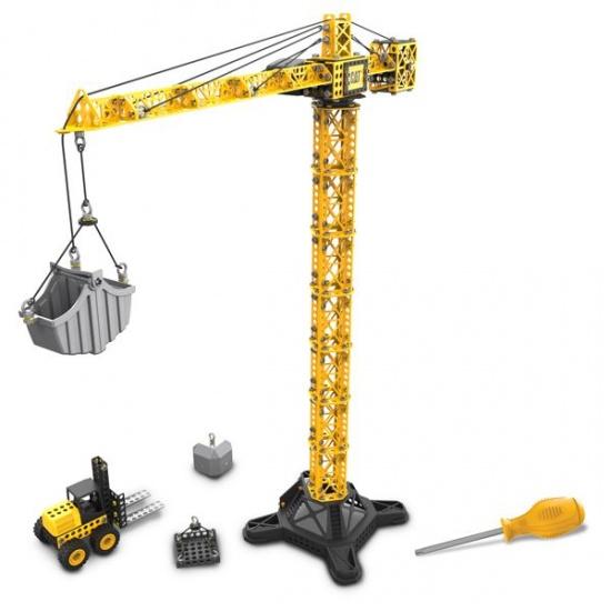 Toystate Caterpillar Tower Crane + Lift geel