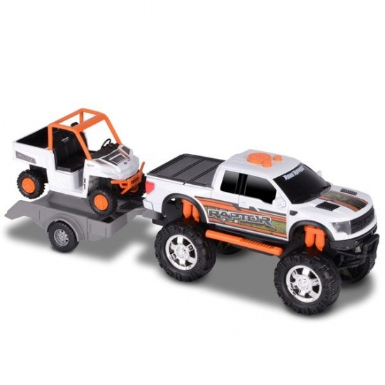 Toystate Road Rippers: Ford F 150 sport trailer wagen wit/oranje