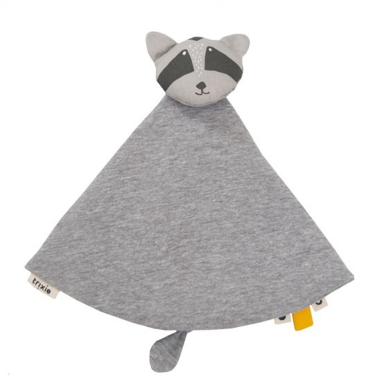 cuddly blanket Mr. Raccoon7 x 7 cm cotton/textile grey