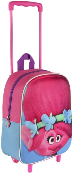 Trolls trolley roze 31 x 25 x 28 cm
