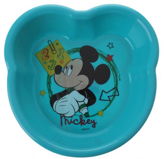 Trudeau schaal Mickey Mouse 123 kunststof blauw 13 x 16 x 3 cm
