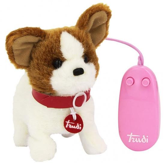 Trudi Elektrische Hond Chiuaua 16 cm Bruin/Wit