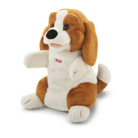 Trudi Handpop Beagle 25 cm bruin