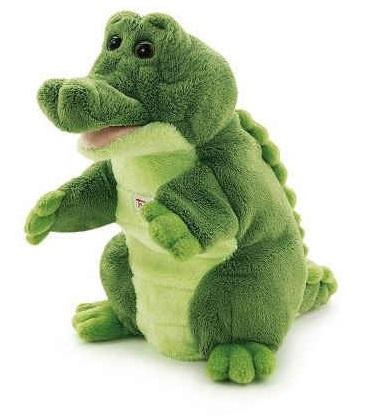 Trudi Handpop Krokodil 25 cm Groen