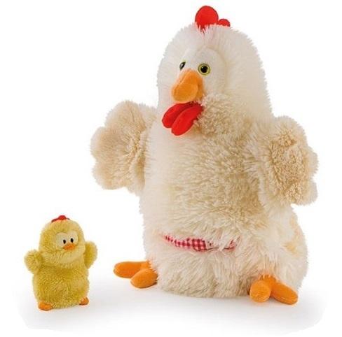 Trudi Handpop Mama & Baby Kip 28 cm Blank