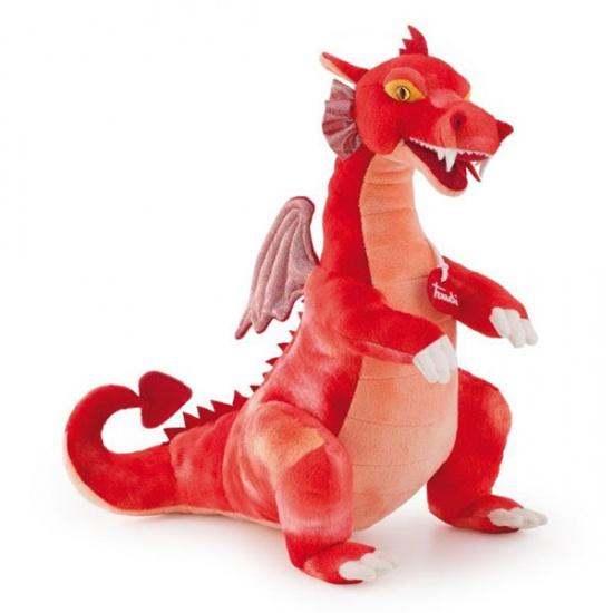 Trudi Knuffel Draak 40 cm Rood