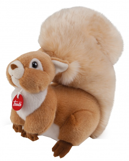 Trudi Knuffel Eekhoorn 33 cm bruin/ wit