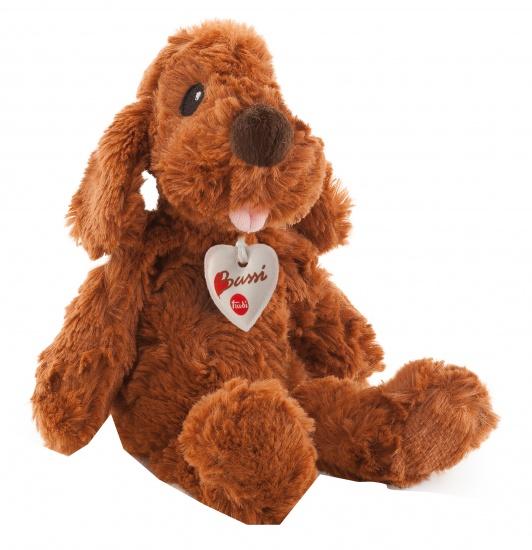 Trudi Knuffel hond 26 cm bruin