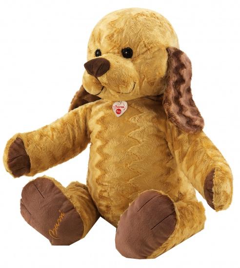 Trudi Knuffel hond 80 cm bruin/ beige