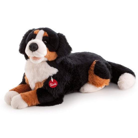 Trudi Knuffel hond Berner Sennen 57 cm zwart /bruin /wit