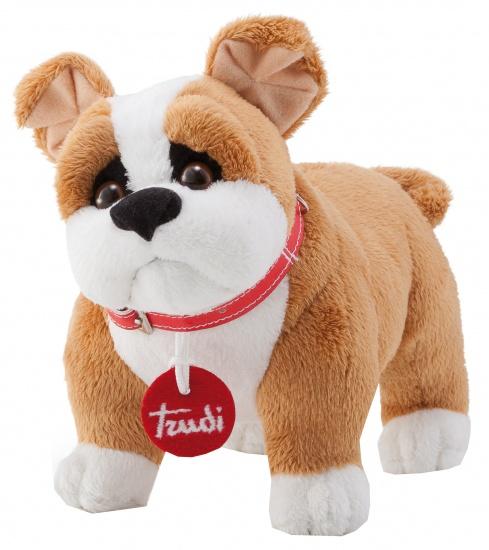 Trudi Knuffel hond Bulldog 20 cm bruin /wit