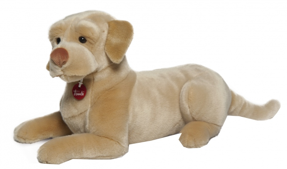 Trudi Knuffel hond Labrador 50 cm beige/bruin