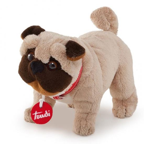 Trudi Knuffel hond Pug 20 cm bruin