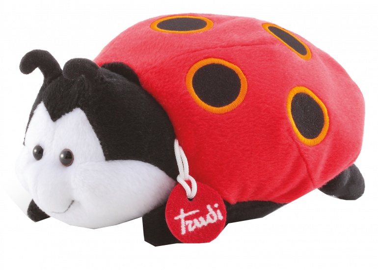 Trudi Knuffel Lieveheersbeestje 21 cm rood/zwart
