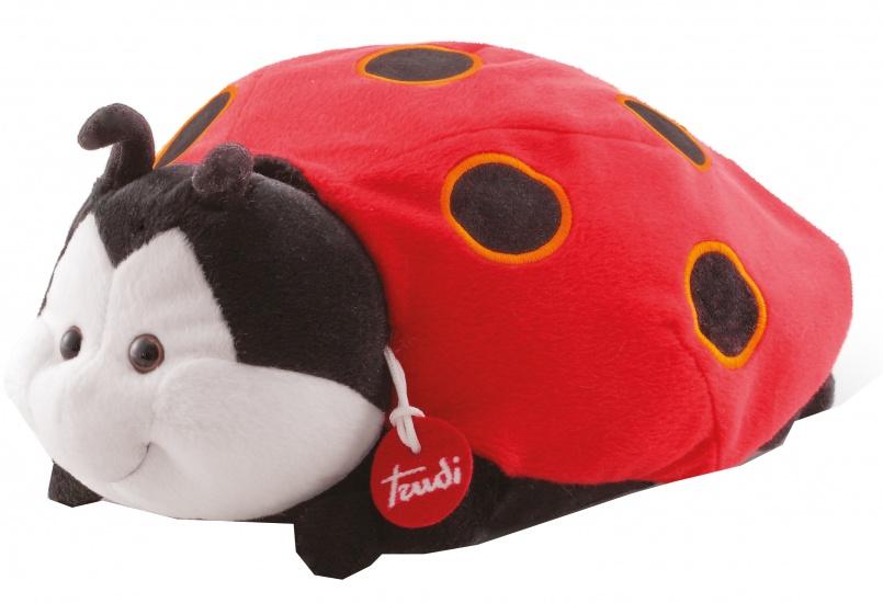 Trudi Knuffel Lieveheersbeestje 30 cm rood/zwart