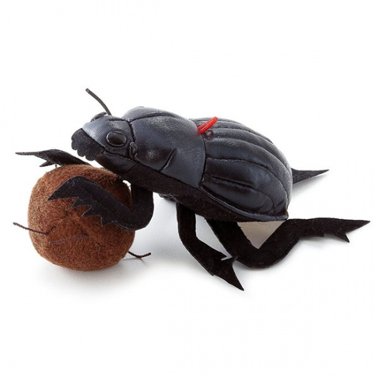 Trudi Knuffel Mestkever 16 cm Zwart