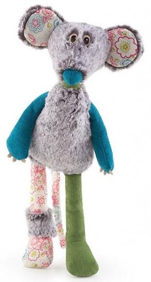 Trudi Knuffel muis Archibald 33 cm grijs
