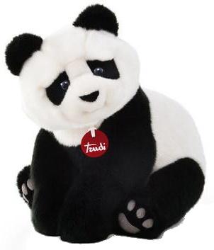 Trudi knuffel panda Kevin zwart/wit 34 cm
