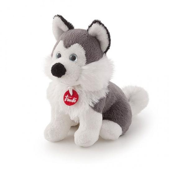 Trudi Knuffel Soft Husky 15 cm Wit